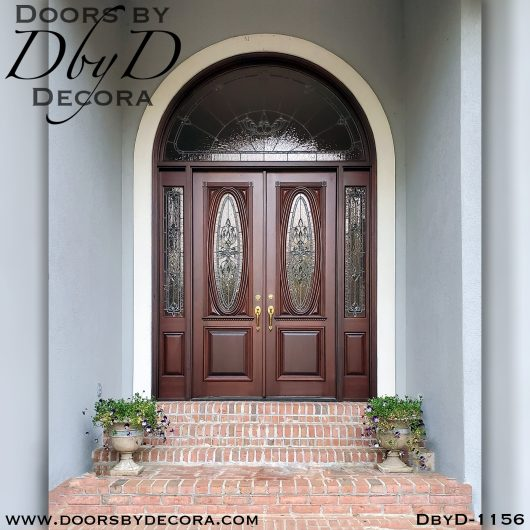 leaded glass1156a - leaded glass large entry doors - Doors by Decora