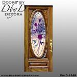 leaded glass rose door