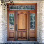 leaded glass mahogany front entry