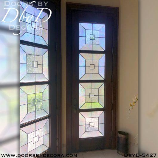 leaded glass5427b - leaded glass single entry door - Doors by Decora