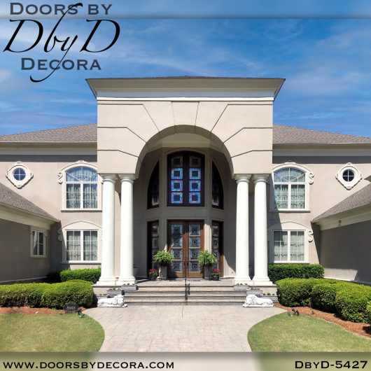 modern5427c - modern single entry door - Doors by Decora