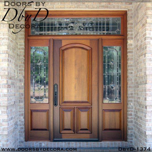 solid door mahogany front entry