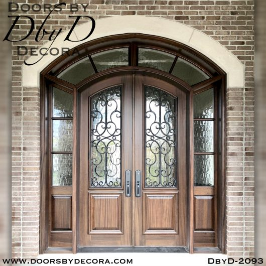 french country iron grill doors