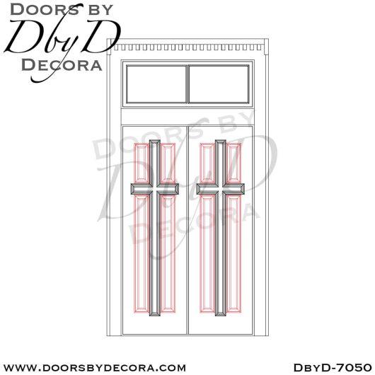 dbyd7050e - church historic cross doors - Doors by Decora