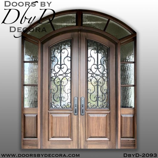 divided lite iron grill doors