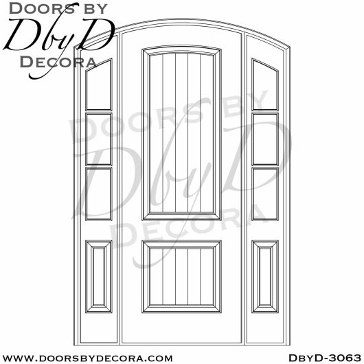 divided lite3063b - divided lite arched door - Doors by Decora