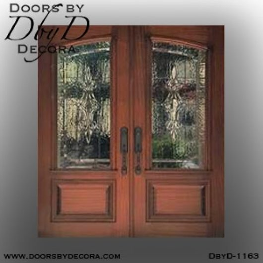 leaded glass1163a - leaded glass wood front doors - Doors by Decora