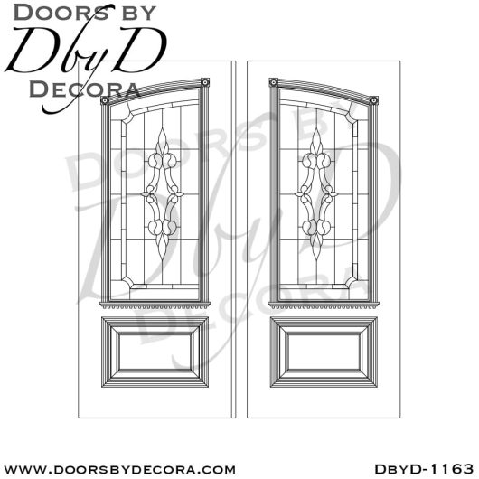 leaded glass1163b - leaded glass wood front doors - Doors by Decora