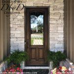 leaded glass single rustic door