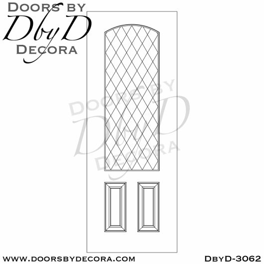 leaded glass3062c - leaded glass single rustic door - Doors by Decora