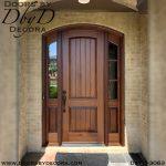 rustic arched door