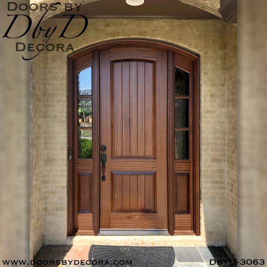 solid door arched door
